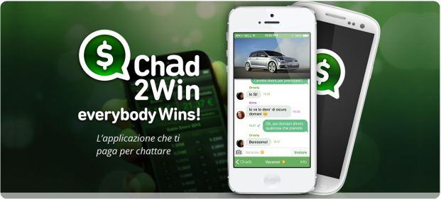 Chad2win l 39 app che paga gli utenti per inviare messaggi for App che ti paga per camminare