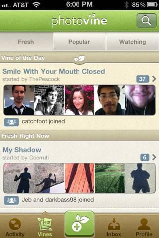 Photovine per iPhone