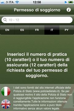 Recensione Applicazione Permesso di Soggiorno - Informazione iOS v3 ...
