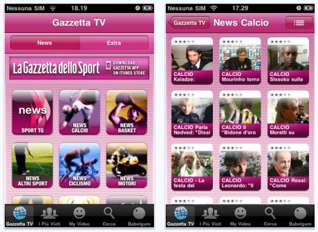 Gazzetta su iPhone