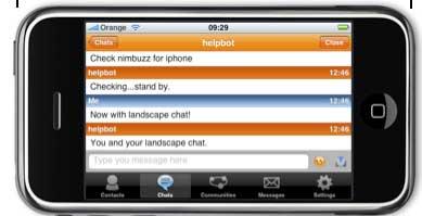 Nimbuzz su iPhone