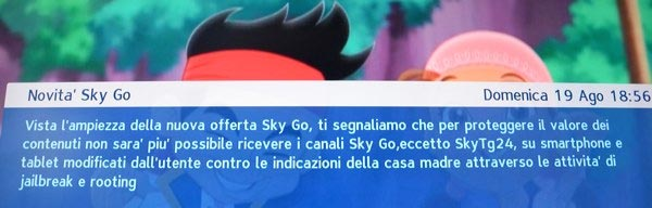 Sky Go software modificati