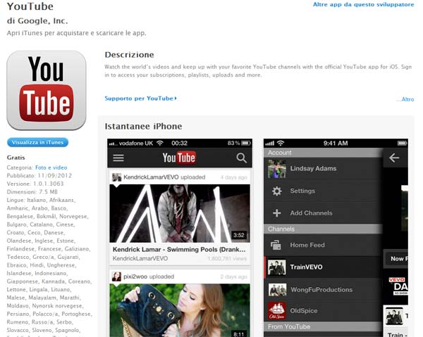 Youtube AppStore