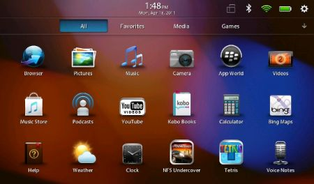 Fase 8 - Imparare ad usare il BlackBerry PlayBook Tablet