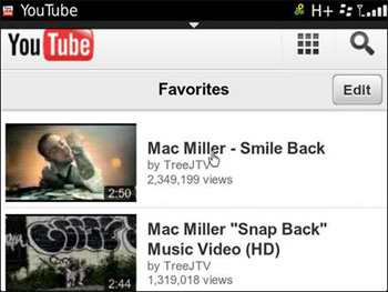 Youtube Blackberry HTML5