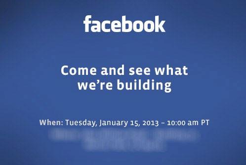Facebook invito 15 gennaio 2013