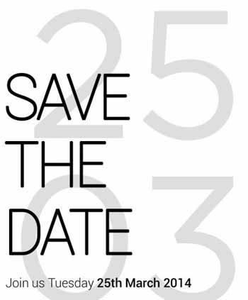 HTC M8 invito evento 25 marzo 2014