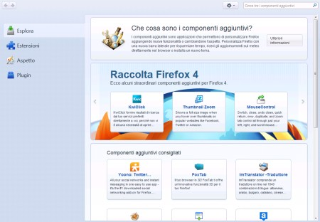 Add-ons Manager Firefox 4