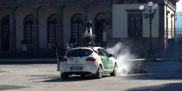 Google Car incidente Lucca