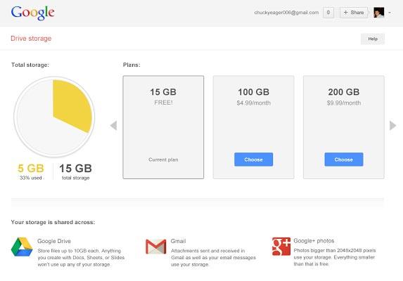 Google storage 2013