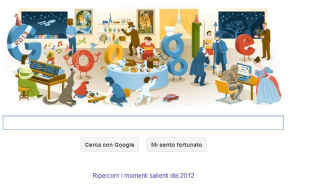 Doodle di Google per il 2012