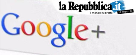 Google Plus banna Republica.it