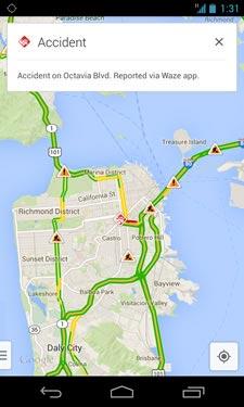 Google Maps info Waze