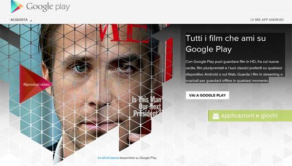 Tutti i film che ami su Google Play