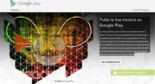 Tutta la tua musica su Google Play