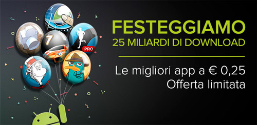 Google Play Store promo 25 miliardi download
