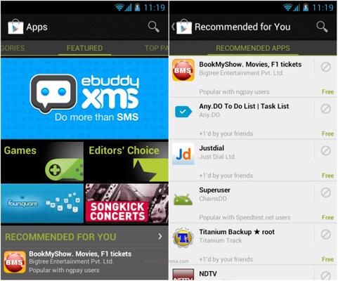 Google Play Store consigliati per te