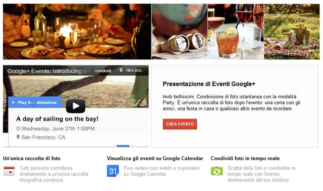 Google Plus Eventi