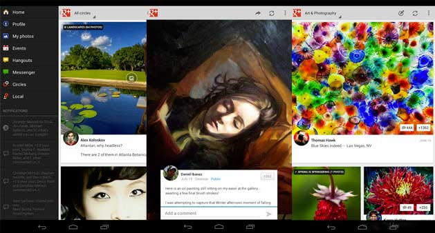 Google Plus tablet Android