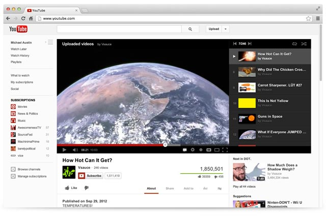 Nuovo Layout per Youtube