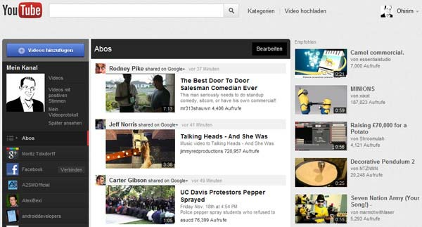 Youtube restyling grafico