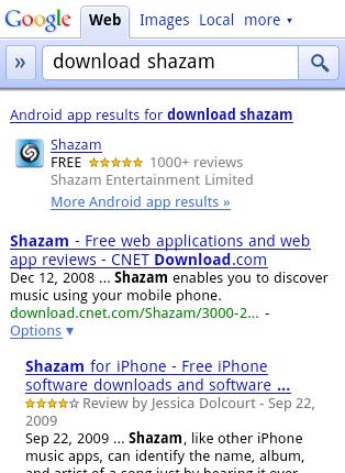 Google App Search Mobile