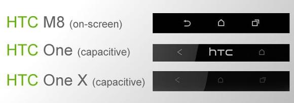 HTC M8 pulsanti