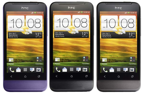 HTC One V viola e nero