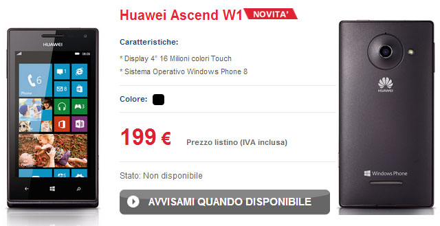 TIM Huawey Ascend W1