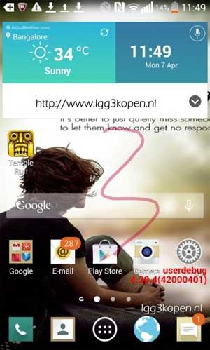 LG G3 scrre