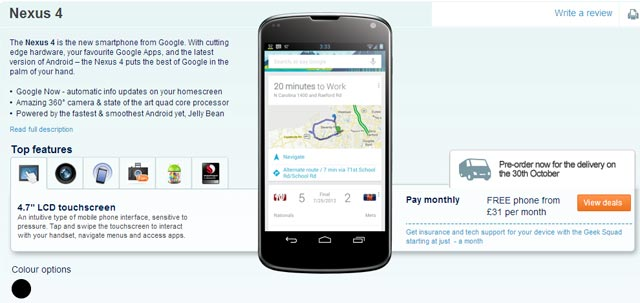 LG Nexus 4 Carhouse