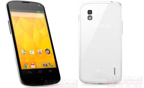 LG Nexus 4 bianco