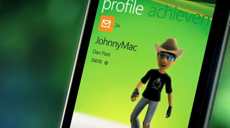Windows Phone 7,5 Mango XBox Live
