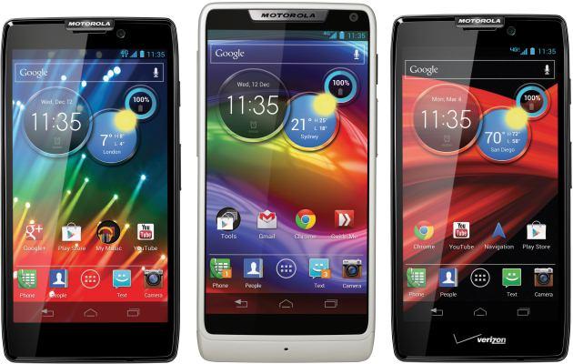 Motorola Razr M , Motorola Razr HD e di Motorola Razr Maxx HD