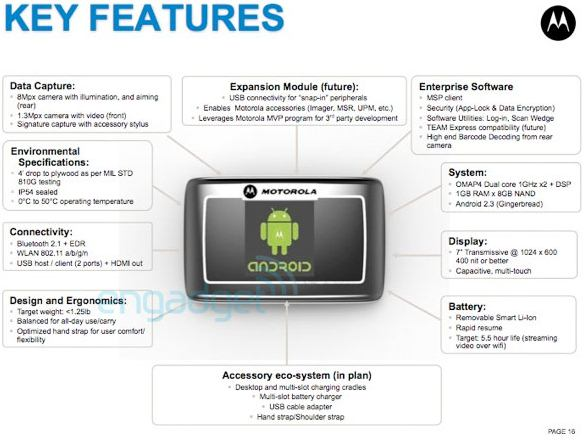 Tablet Motorola per le imprese?