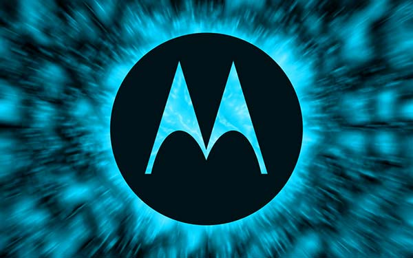Motorola black blue logo big