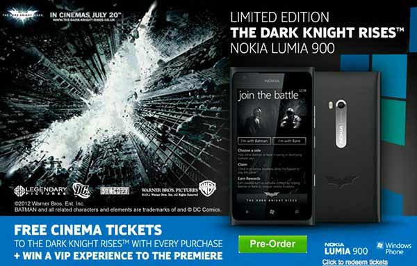 Nokia Lumia 900 Dark Knight Rises Limited Edition