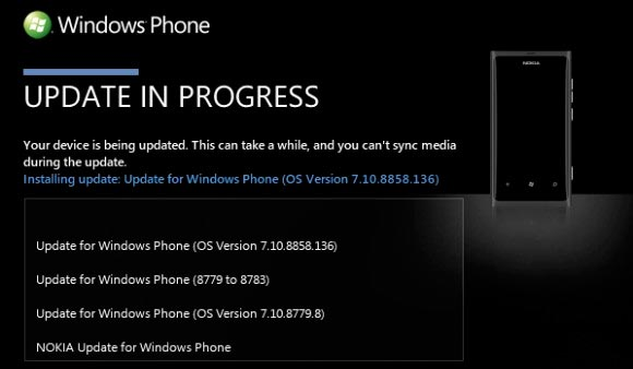 Nokia Lumia 800 Windows Phone 7,8 aggiornamento