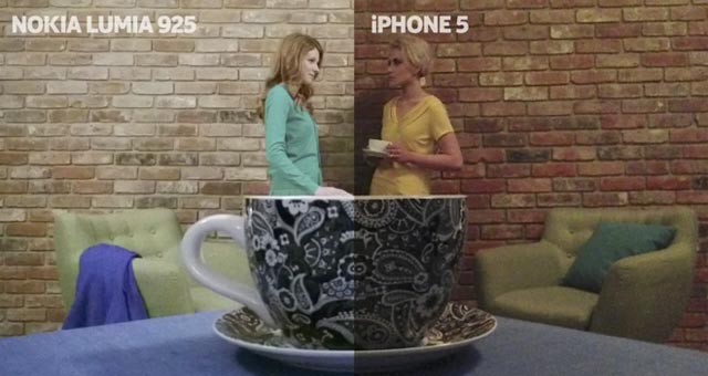 Spot Nokia Lumia 925 vs Apple iPhone 5