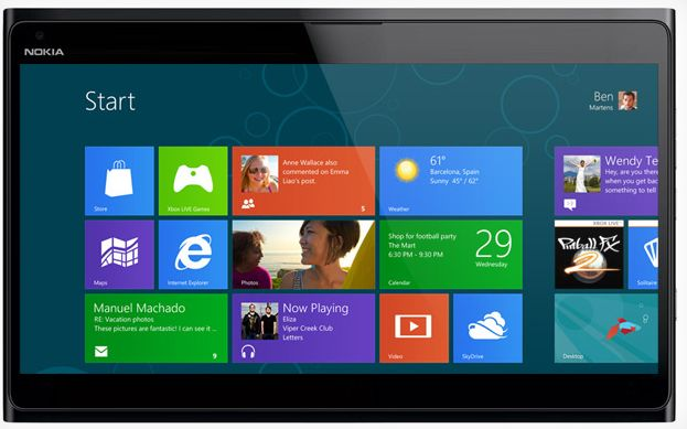 Tablet Pc Nokia con Windows RT
