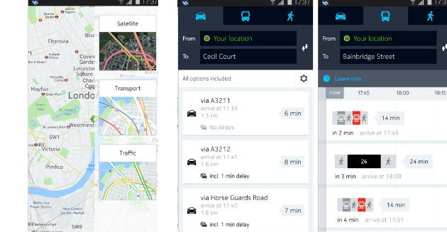 Nokia HERE Maps sugli smartphone Samsung Galaxy Android