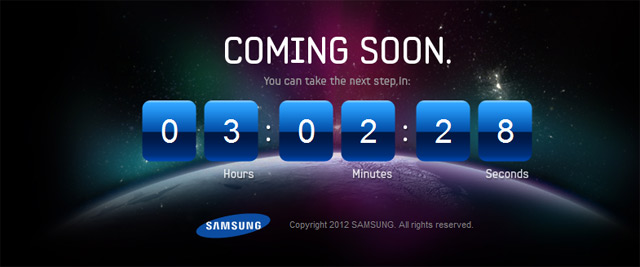 Samsung coming soon 23 aprile 2012