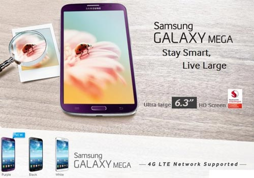 Samsung Galaxy Mega 6.3 viola