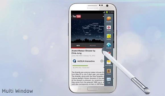 Samsung Galaxy Note 2 Multi-view