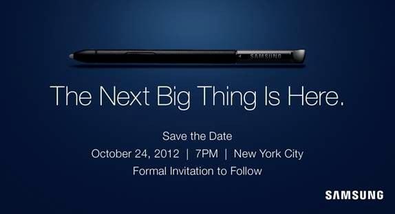 Samsung Galaxy Note 2 24 Ottobre USA