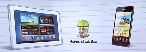 Samsung Galaxy Tab Jelly Bean Galaxy Note Android Jelly Bean