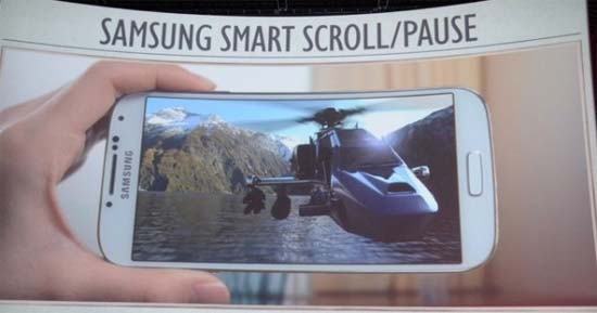 Samsung Smart scroll pause