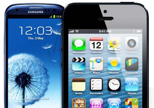 Samsung Galaxy S3 Apple iPhone