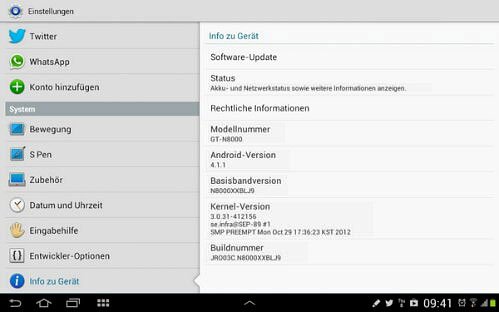 Samsung Galaxy Note 10.1 Jelly Bean
