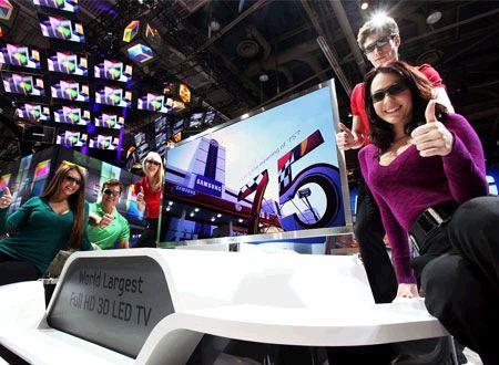 Samsung presenta la smart tv full hd led 3d piu 39 grande al for Tv 75 pollici prezzo